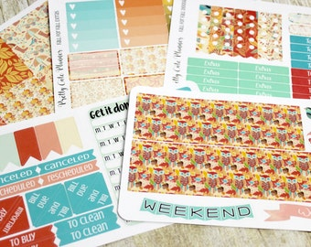 Fall Planner Stickers- Autumn Planner Stickers - Erin Condren Life Planner - Happy Planner - Day Designer - Stickers - Fall Into Fall