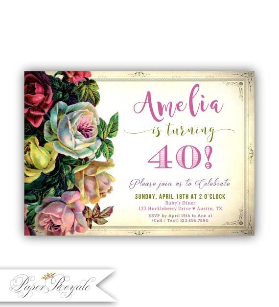 Invitaci n adulta del cumplea os invitaci n del cumplea os - Modelos de tarjetas de cumpleanos para adultos ...