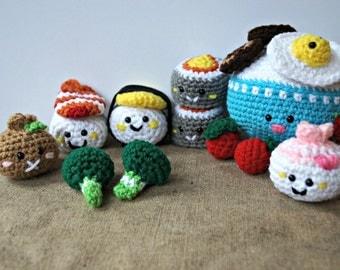 Amigurumi Food Bento Family II Crochet Pattern/ Sushi Set