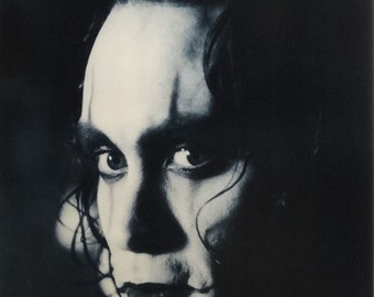 The Crow 20x30 Brandon Lee Close Up Black and White Movie Poster 1995