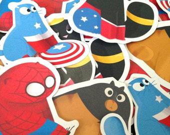 Superhero Cat Stickers