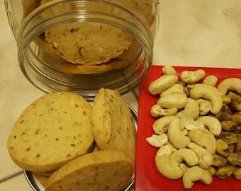 Cashew pistachio cookies