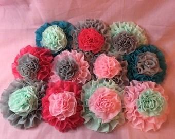 Ruffle rosette baby headbands