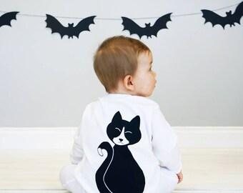 Baby Halloween Costume Cat - Cat Halloween Baby Sleepsuit - Baby Halloween Costume - Cat Costume