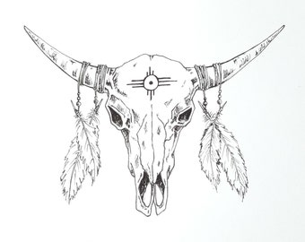 Native American Inspired Skull