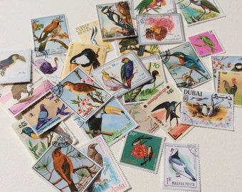 Worldwide birds stamps/ Used stamps lot