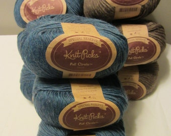 Full Circle Special Reserve by Knit Picks in Denim & Mocha