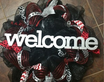High School Theme Wreath