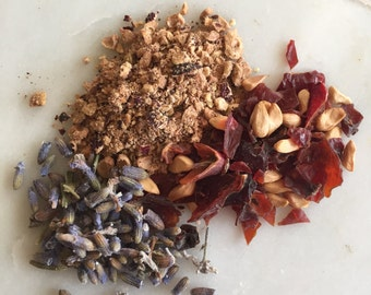 Heart chakra herbal tea blend