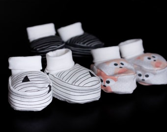 Organic baby clothes baby booties baby shoes organic jersey baby booties with cuffs Slippers Baby Socks organic baby clothes baby girl shoes