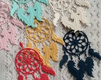 Dreamcatcher die cuts. Tribal/boho baby/wedding shower/party decorations, embellishments. Choose any color(s) & quantity