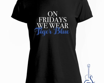 On Fridays We Wear Tiger Blue - Women's Memphis Tiger Tee