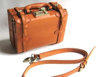 Leather Boxy Handbag