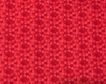 "Timeless Treasures Fabric, ""LIPSTICK"", red/pink"