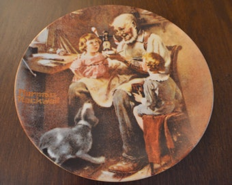 """Norman Rockwell's """"The Toy Maker"""" Collectible Plate 1977"""