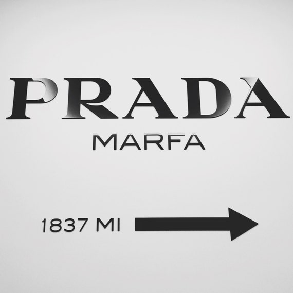 PRADA MARFA Gossip Girl Decal Home Decor Sticker Fashion Acrylic Wall Decor  Installation 100 Cm X 58 Cm