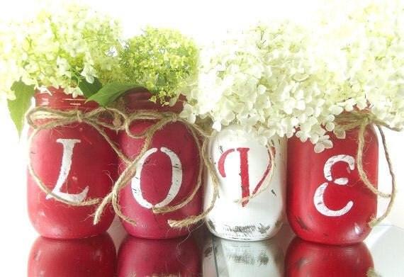 Valentines Day jars & bottles