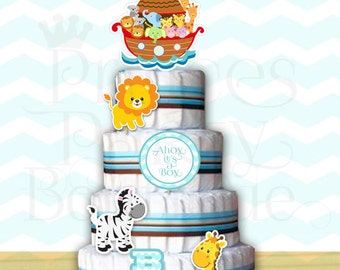 Printable Decor Diaper Cake (Instant download)