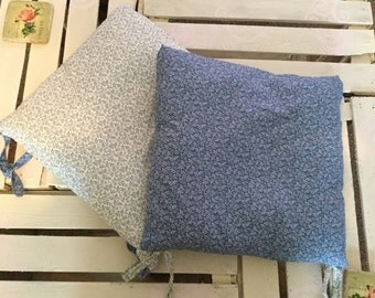 Set of two floral seat cushions