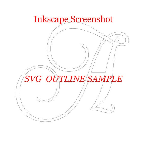 ELEGANT Script Font Monogram Svg, Dxf, Eps, Png; Digital