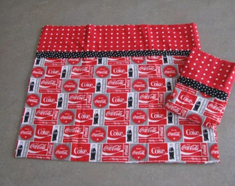 Coca Cola pillowcase