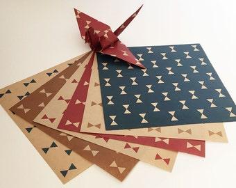 Origami Paper Sheets - Fancy Design Kraft Paper - 36 Sheets