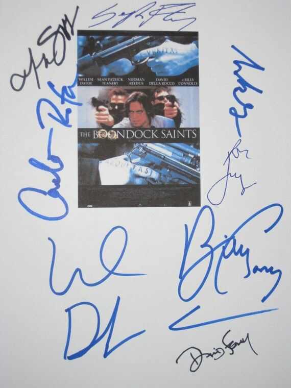 The Boondock Saints Signed Film Movie Screenplay Script X8 Autographs Willem Dafoe Sean Patrick Flanery Billy Connolly Norman Reedus Jeremy