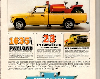 """1978 Chevy Luv pickup truck vintage magazine ad """"more payload that many full size 1/2 ton trucks"""" 1707"""