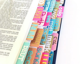 Inspire Bible Tabs: Gold, Pinks, Blues and Brown Bible Tabs