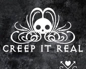 Creep It Real Car Decal Halloween Gothic Decal
