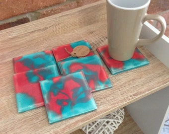 Made to Order - Set of 6 Resin Coasters.