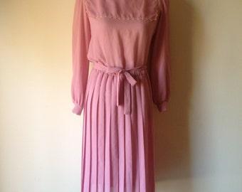 SALE Pink Vintage Dress