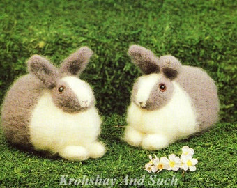 Toy Bunny Rabbit, Knitting Pattern. PDF Instant Download.