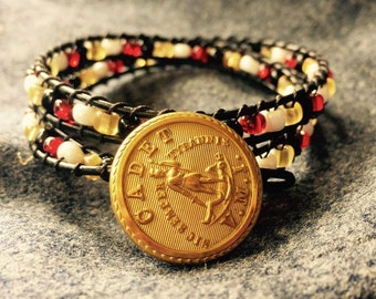 VMI Virginia Military Institute double wrap bracelet