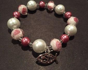 Antique Rose Stretch Bracelet
