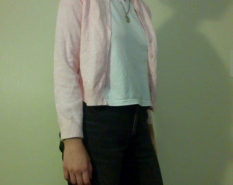 vtg unbranded pink wool cardigan sweater