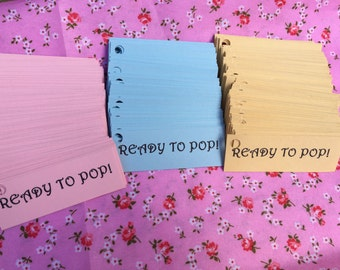 25 Ready to pop baby shower favour tags with twine. Baby girl & baby boy