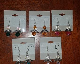 Handmade Beaded Angel Earrings