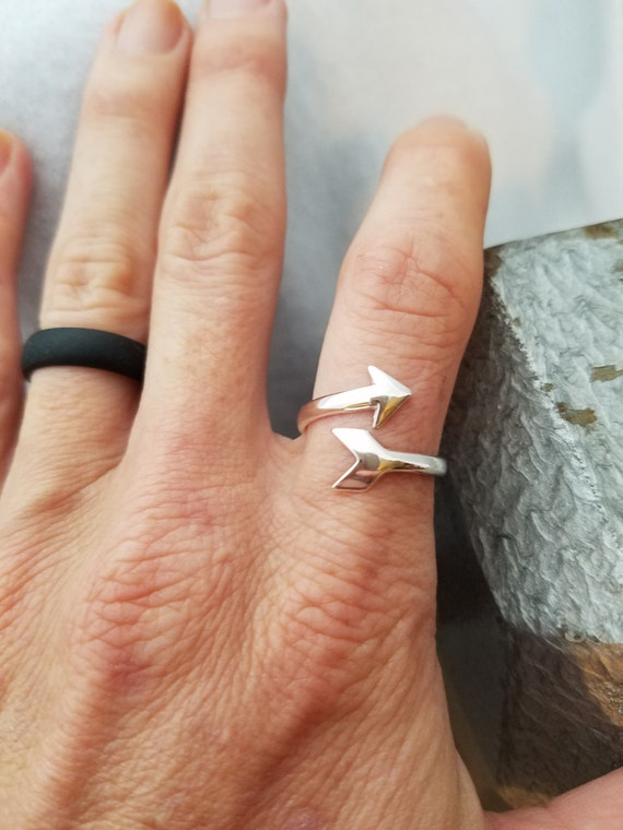 Arrow Ring, Sterling Silver Arrow Ring, Arrow Midi Ring, Sterling Silver Jewelry, Follow Your Arrow Charm, Silver Arrow, Inspirational Gifts
