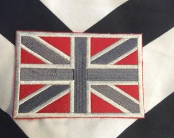 UNION JACK Flag Vintage Embroidered DeadStock Patch ,UK English British Punk