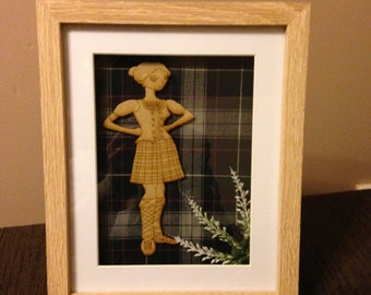 highland dancer tartan frame
