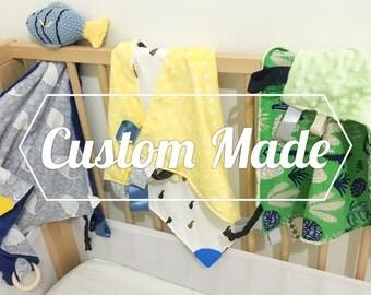 Sensory blanket/ baby comforter/ teething toy/ baby shower gift/ newborn gift