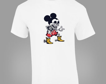 Mickey Mouse Zombie Skeleton T-SHIRT
