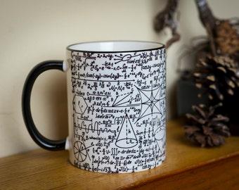 Math Mug cup School teacher Maths Science Equations Formulas Teacher Novelty Gift