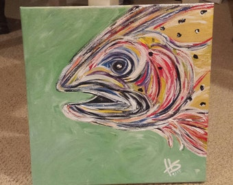 Rainbow Trout on Canvas