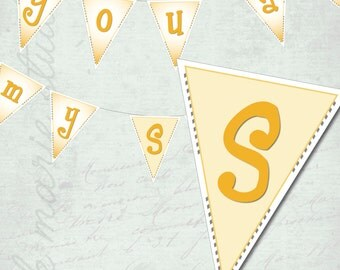 You Are My Sunshine Baby Shower BANNER download diy
