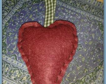 Maroon Heart Hanger
