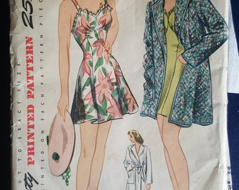 Vintage Simplicity bathing suit pattern 4624 1940s size 16