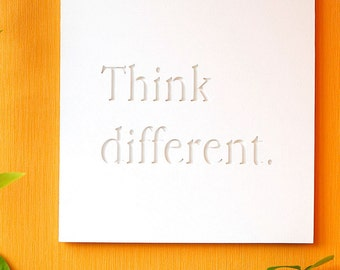 Think Different - volume painting artwork