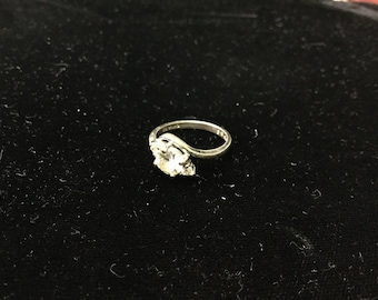 Vintage, Sterling, CZ Ring, Size 6